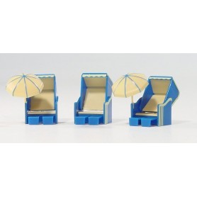 Herpa 051330 Strandkorb (a German beach furniture), 3 pieces