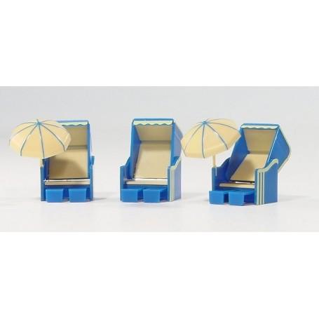 Herpa 051330 Strandkorb (a German beach furniture), 3 pieces