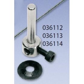 Texson 036114 Hjulaxel, 4 mm, 1 par