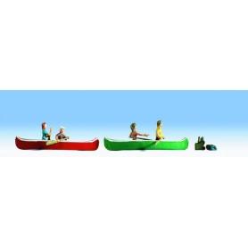 Noch 37808 Kanotister med kanoter och tillbehör, 4 st figurer (ej flytande)