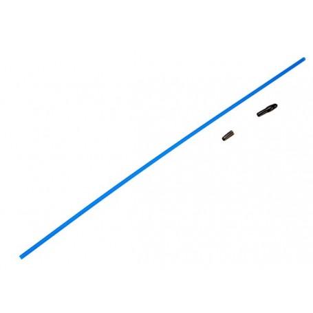 Traxxas 1726 Antennrör, nylon, blå, med svart hatt, 1 st