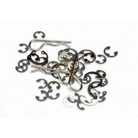 Traxxas 1633 E-Clips och C-ringar, 1 set