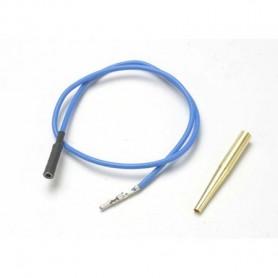Traxxas 4581X Glödstiftskabel, blå, 1 st, med molex pin extractor