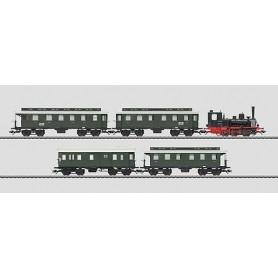 Märklin 26555 Tågset, ånglok med 4 st personvagnar DB, epok III