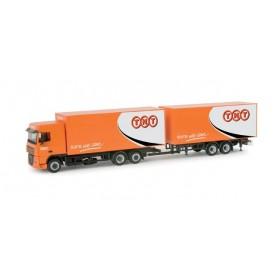 "Herpa 157117 DAF XF 105 volume box trailer ""TNT"""