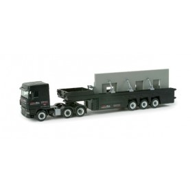 "Herpa 157131 DAF XF 105 SC cement-part transporter ""Rot-Fink"""