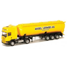 "AMW 53504 Scania ""R"" Topline Aero Tanktrailer ""Aksel Lernaes AS"". Norsk Modell"