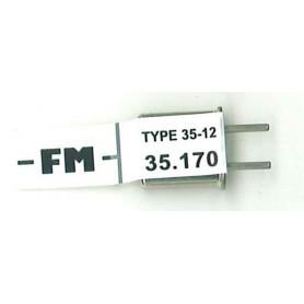 Futaba 106077 Mottagarkristall RX FM 35.170. Type 35-12