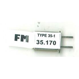 Futaba 103077 Sändarkristall TX FM 35.170. Type 35-1