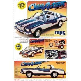 "MPC 702 Chevy Monte Carlo 1980 ""Wheeler Dealer"" med trailer och chopper"