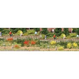 Heki 1804 Buskväxt/grästuvor 100 st, gula/röda, 6 mm höga