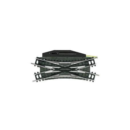 Trix 14968 Dubbel korsningsväxel 30°, längd 104,2 mm R1 - 30°