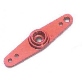 Texson 03020A01 Servoarm, aluminium, 1.9 mm, röd, 1.9/2.9 mm hål, 18 mm, Futaba, 1 st