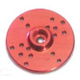 Texson 03050A01 Servoarm, aluminium, röd, rund,, 1.6 mm, Futaba, 1 st