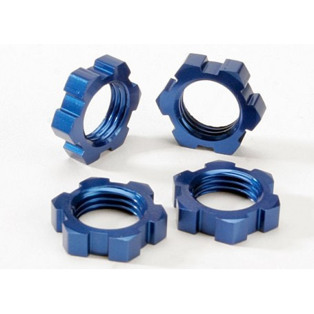 Traxxas 5353 Hjulmutter, 4 st, 17 mm, blå anodizerad aluminium