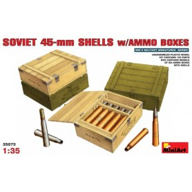Miniart 35073 Soviet 45 mm Shells with Ammo Boxes, 6 ammoboxar