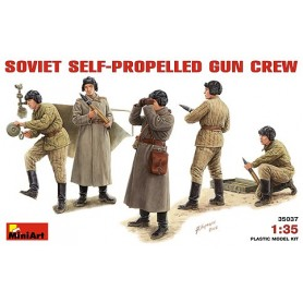 Miniart 35037 Figurer Soviet Self-Prop. Gun Crew, 5 figurer