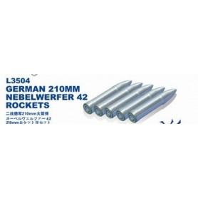 Lion Roar 3504 Tillbehör för Rocket Launcher 210 mm Nebelwerfer 42, 5 st raketer