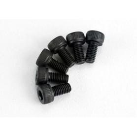 Traxxas 2554 Insexskruv M3x6 rund, svart, 6 st