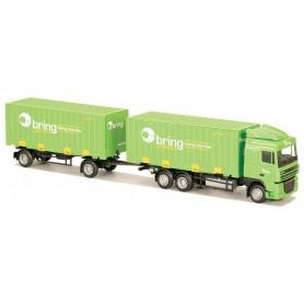 "AMW 74081 DAF XF 1015 SC Bil & Släp Container ""Bring"". Svensk Modell"