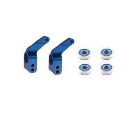 Traxxas 3652A Hubbar för bakaxel, 2 st, blå anodizerad aluminium, passar för bl.a. Stampede/Bandit