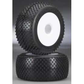 Traxxas 5375R Däck 3.8 Dished fälgar och Response Pro Tires däck, med foam inserts, 2 st