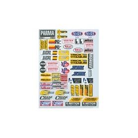"""Parma PSE 10626 Dekalark för karosser, """"Drag Racing"""" logotyper/sponsorer, 1 ark"""