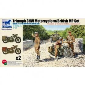 Bronco 35035 Motorcykel Triumph 3HW w/ British MP Set