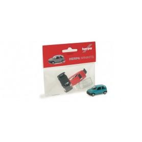 Herpa 012164 Fiat Qinquecento, finns i grönt eller rött byggsats