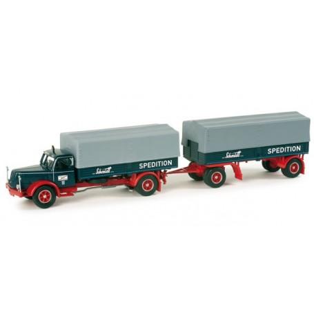 """Herpa 157636 Henschel HS 140 canvas trailer """"Schmidt Gevelsberg"""""""