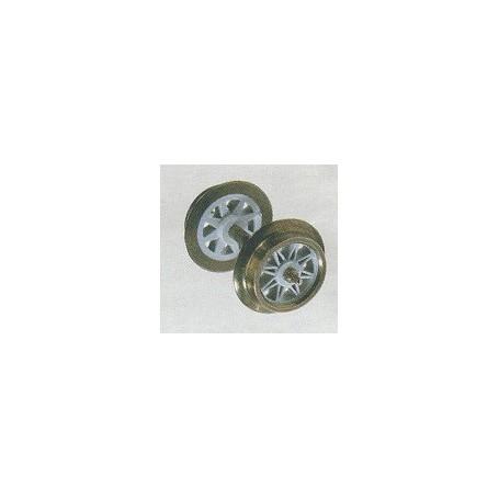 Trix 36669400 AC-Hjul, 11 mm, gråa ekrar, 1 st