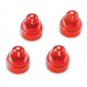 Traxxas 3767X Dämpartoppar, röd anodiserad aluminium, 4 st