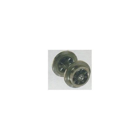 Trix 33340009 Hjul, 11 mm, svarta ekrar, 1 st, för Trix Express