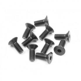 XRay 903410 Skruv, insex, försänkt, M4x10mm, 10 st