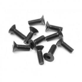 XRay 903412 Skruv, insex, försänkt, M4x12mm, 10 st