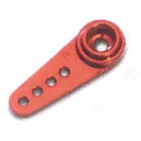 Texson 03030A01 Servoarm, aluminium, 1.9 mm hål, röd, 20 mm, ½ arm, Futaba, 1 st