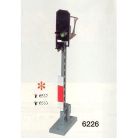 Fleischmann 6226 Ljussignal, visar röd eller grön, masthöjd 91 mm