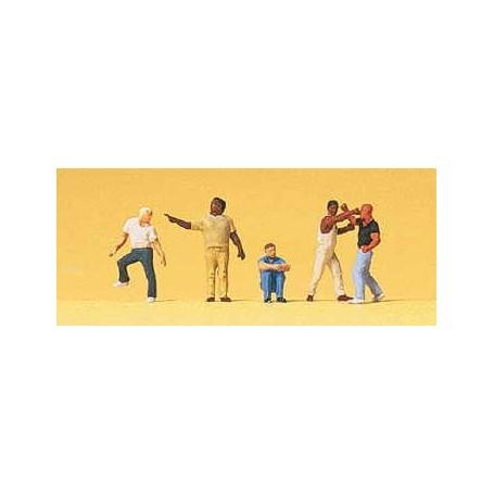 """Preiser 79175 Ungdomar på gatan """"Street Scenes"""", 6 st."""