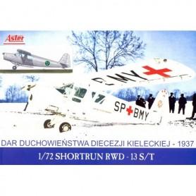 Aster 11 Flygplan RWD 13 S/T med svenska dekaler
