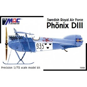 MAC 72125 Flygplan Phönix DIII Swedish Royal Air Force, med svenska dekaler
