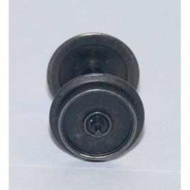 Märklin 700500 Hjulaxel, skivhjul, 1 st, isolerad på ena sidan, med tapplager, 12 mm hjuldiameter.