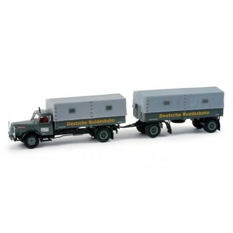 """Herpa 157780 Henschel HS 140 canvas trailer """"DB"""""""