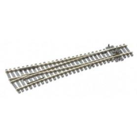 Peco SL-E98 Växel, Y-Lång, 2-delad, radie 1828 mm, vinkel 12°, längd 220 mm