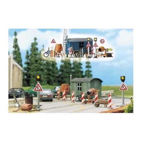 Busch 5904 Varningssignaler för vägarbetsplats, 2 st