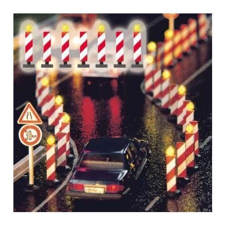 Busch 5907 Varningssignaler för vägarbetsplats, 7 st