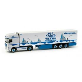 "Herpa 158169 DAF XF 105 SSC refrigerated box semitrailer ""Trio-Trans"""