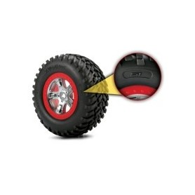 "Traxxas 5871R Däck S1 Compound, ultra-soft, S1 Off-Road Racing. 4.3x1.7-2.2/3.0"" med foam inserts, 1 par"