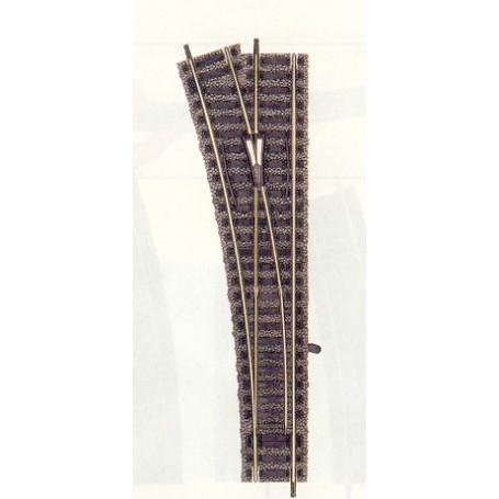 Fleischmann 6170 Växel, standard, vänster, manuell, längd 200 mm