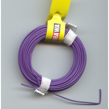 Brawa 3100 Kabel, 10 meter, lila, 0,14 mm
