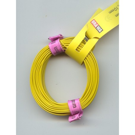 Brawa 3161 Kabel, 10 meter, gul, 0,08 mm